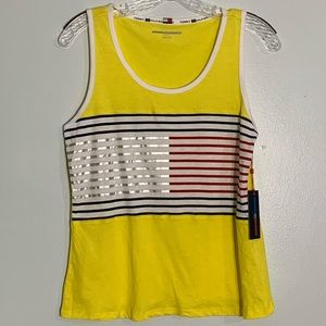 NWT Tommy Sport Striped Tank Top